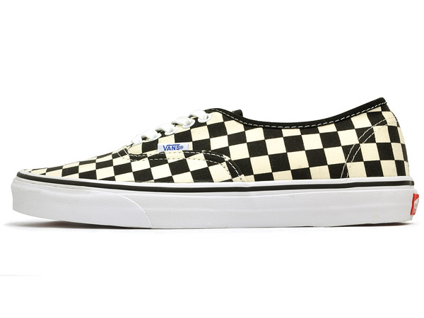 e1b92da8090405 Vans authentic (many) black and white Checker VANS AUTHENTIC (GOLDEN COAST)  BLACK WHITE CHECKER black white check vans cut classic sneakers mens skate  shoes ...