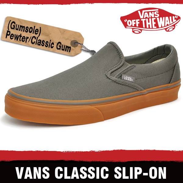 vans pewter gum sole slip on nz