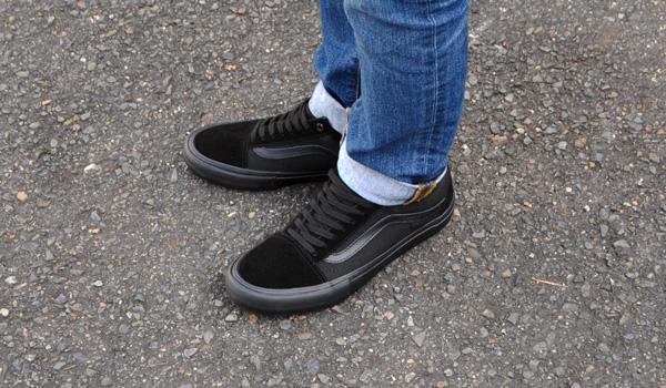 c0c64a2c2a9865 denpcy  Vans sneakers men old school pro blackout VANS OLD SKOOL PRO ...