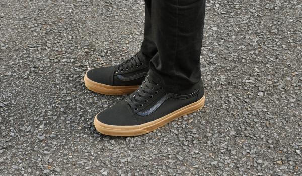 denpcy  Vans sneakers mens ladies old school (canvas gum) black ... 06d450335