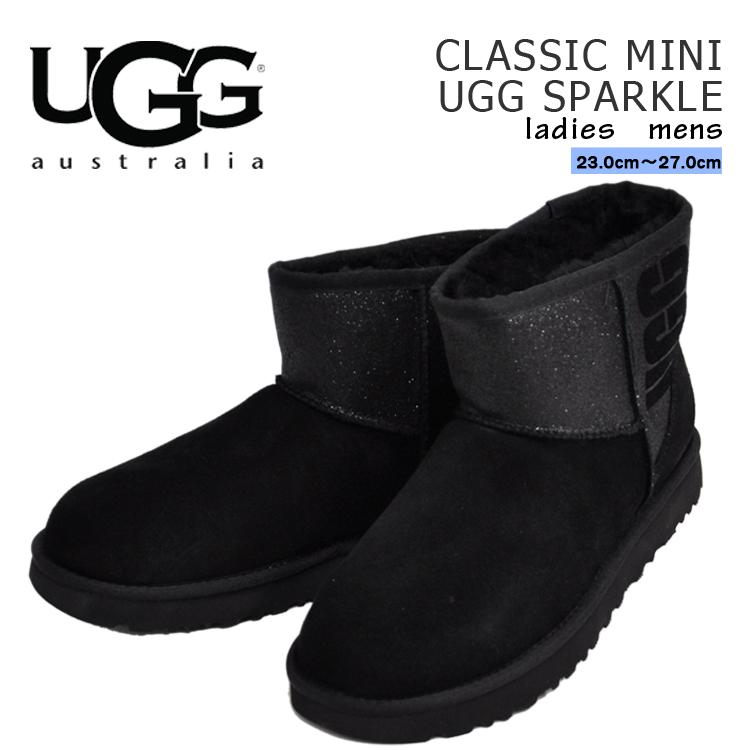 【ラスト1足】 アグ クラシックミニ スパークル ブラック メンズ レディース UGG CLASSIC MINI SPARKLE BLACK 1098452