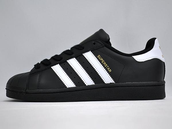 adidas superstar j black white