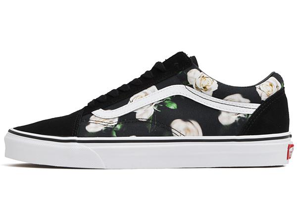 Vans sneakers men gap Dis old school (romantic floral) black toe roux white VANS OLD SKOOL (ROMANTIC FLORAL) BLACKTRUE WHITE VN0A38G1VRK