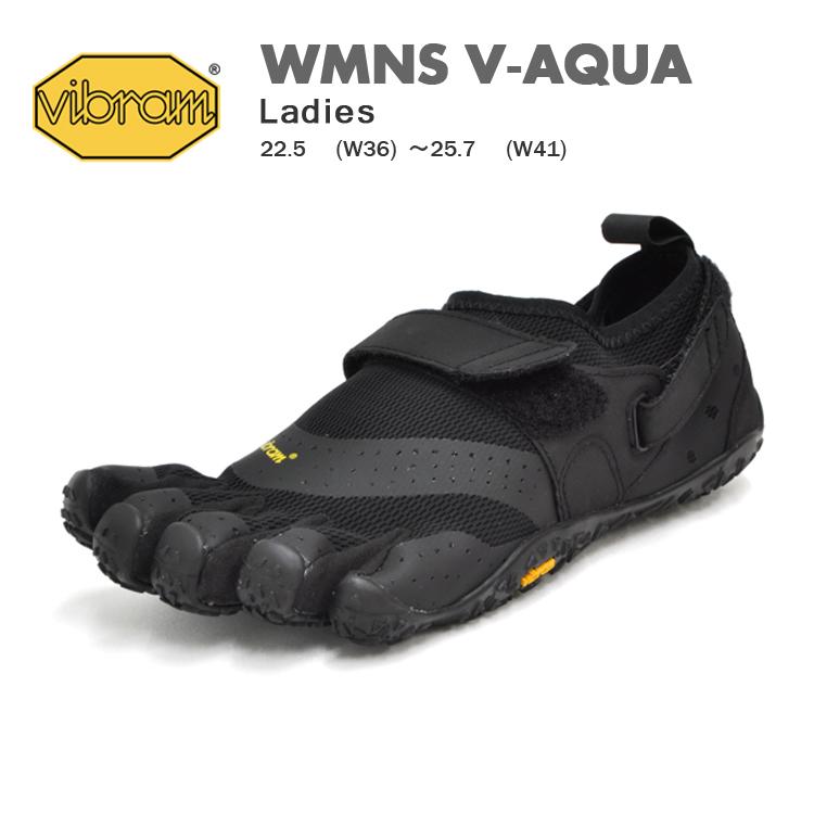 ビブラム ファイブフィンガーズ ベアフット 5本指 シューズ レディース ウィメンズ ブラック Vibram FiveFingers WMNS V-AQUA BLACK 18W7301