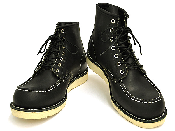 Red Wing 9075 D wise 6-inch classic MOC boots black leather RED WING 6inch  CLASSIC MOC