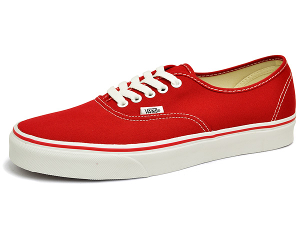 Vans authentic red   white US9 simple  amp  stylish mens Womens lightweight  low-cut sneakers VANS AUTHENTIC RED WHITE to school   bike Skate ... 77324488f