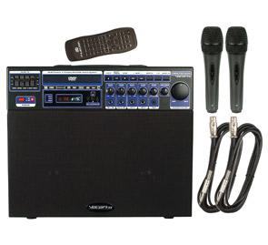 VocoPro マルチフォーマット4チャンネルポータブルサウンドシステム(2マイク付) DVD-SOUNDMAN BASIC