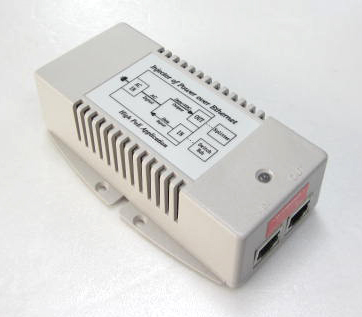 802.3at ギガビットPoEインジェクター AC入力→+56VDC/35W MIT-09G-56D