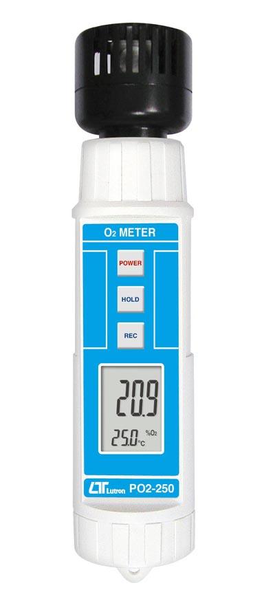 ペンタイプ-空気中酸素濃度+気温 O2メーター PO2-250