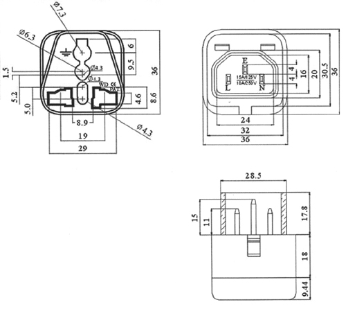 denshi  conversion plug  uff08 c14  u2192 universal receptacle  wd