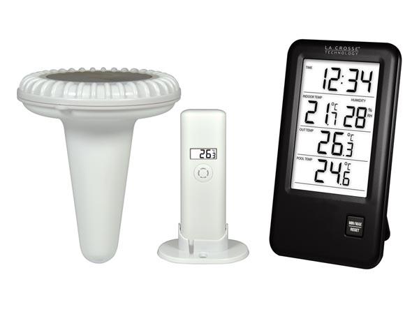 プール水温計+室内温湿度計+室外温度計 WS9068