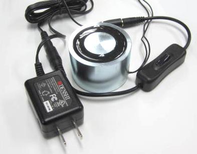 電磁石(12VDC-直径55mm-70kg)+電源+スイッチ付