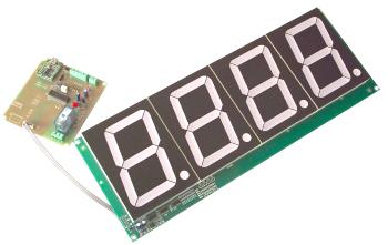 USBインターフェース100mm大型7セグLED カウンターモジュール USB.CD-60.4