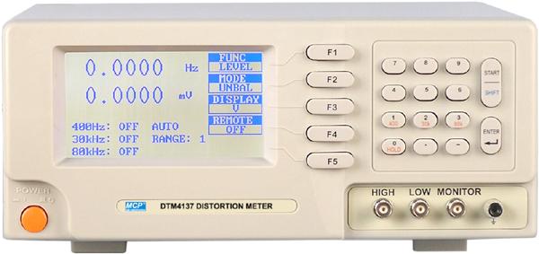 デジタル歪(ひずみ)率計+S/N計測+SINAD計測 DTM4137