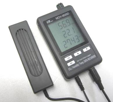 SDカードリアルタイムデータロッガCO2+湿度+温度データレコーダー MCH-383SD