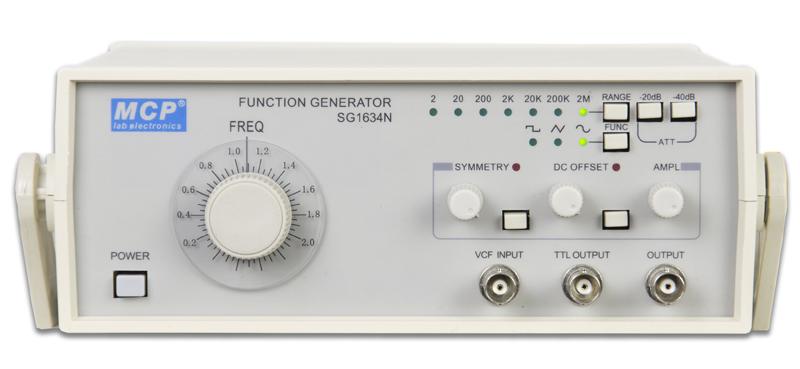 学習用2MHzファンクションジェネレーター+TTL出力 SG1634N