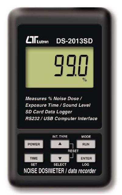 SDカードリアルタイムデータロッガー-RS232/USB PCインターフェース パーソナル音響曝露計-ノイズ積算計 DS-2013SD