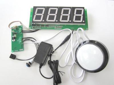 58.5mm大型7セグLED カウンターモジュール CD-21+電源+スイッチセット