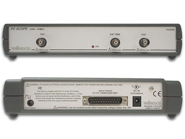 2チャンネルPCオシロスコープ 1000MS/s PCS500A