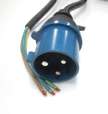 IEC60309-32A-250Vオス→H07RN-F 4MMSQ-3M