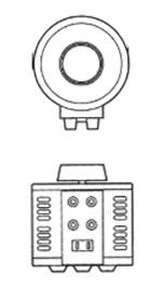 電圧ボルトスライダー 単相100V→0~300V/0.3kVA SS-300-1