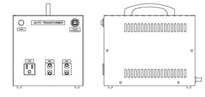 100/110/120/125V→120/220/240V 海外用トランス(輸出入製品用1.5kVA)YP-15