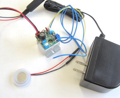 セラミック超音波振動子2.5MHz+動作確認用回路+スイッチング電源