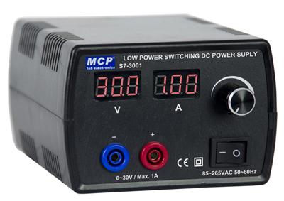 低パワーデジタル可変式スイッチング電源(0~30V/1A)S7-3001