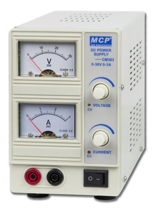 標準型DC可變電源(0~30Vdc/3A)CM303