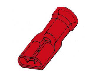 절연 커버 첨부 여성 평 단자 6.4 mm/10 개