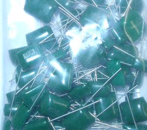 60PC緑キャップ ポリエスター コンデンサ 訳あり商品 セール品