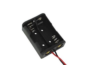 単5×2電池ホルダー ブランド品 当店限定販売 リード付 5個