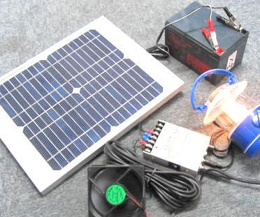 学習用ソーラーパワーステーション12V/500mA→12Ah
