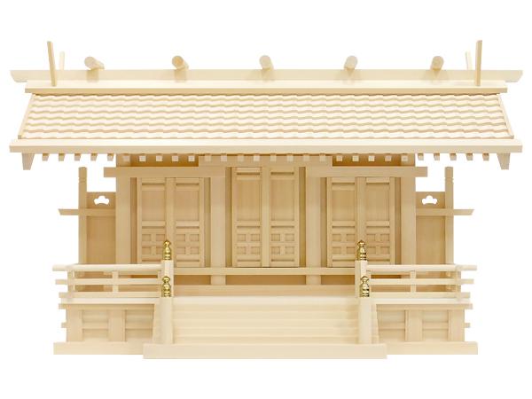 【神棚】白山瓦屋根通し三社・大(木曽ひのき)