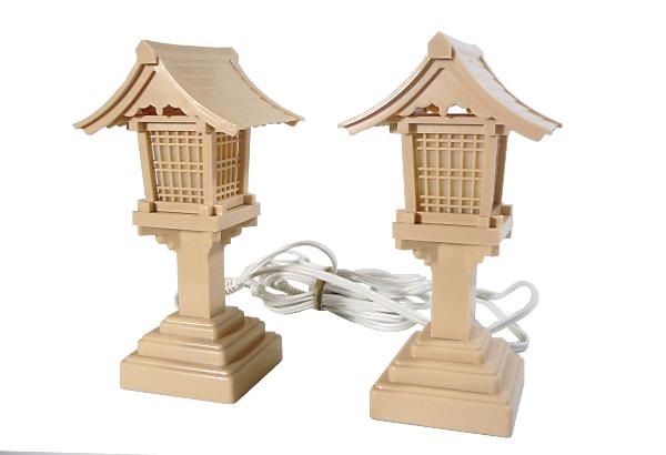 【PC春日燈籠(とうろう)6号】ベージュ・電気コード式