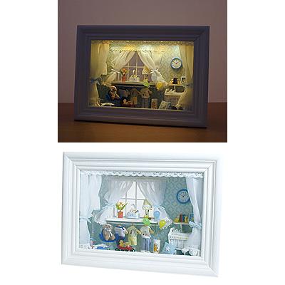 イシグロ ドールハウス クロック ボックス型 オープンタイプ (ランプ 時計付) 19/207
