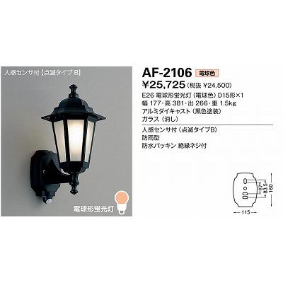 山田照明 エクステリア・アウトドア照明 AF-2106