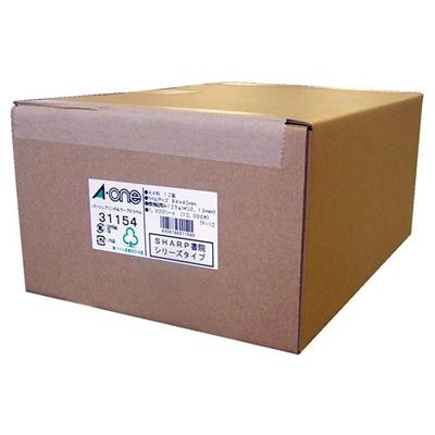 送料無料 エーワン パソコンプリンタワープロラベルシール 31154 ホワイト プリンタ兼用 12 シート入 SHARP書院 マーケット 1000 蔵 4906186311540 面