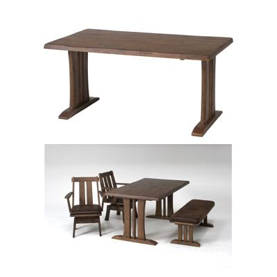 不二貿易 ダイニングテーブル 栞 (SHIORI) DBR (ダークブラウン) 87695