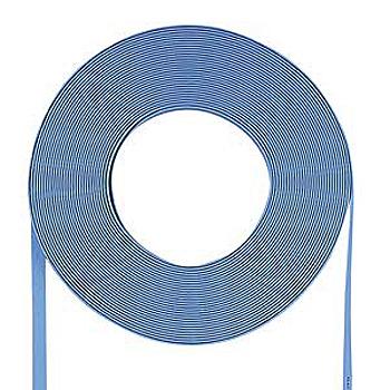 サンワサプライ 超フラットケーブルのみ(ライトブルー・100m) LA-FL5-CB100LB