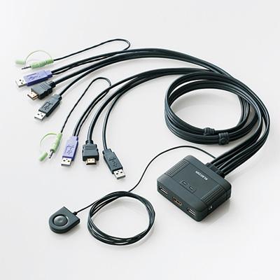 エレコム パソコン切替器/HDMI対応 KVM-HDHDU2