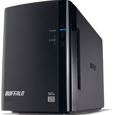 バッファロー ミラーリング機能搭載 USB3.0用 外付けハードディスク 2ドライブモデル 4TB (HDWL4TU3/R1J) HD-WL4TU3/R1J