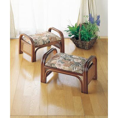 今枝商店 Romantic Rattan 座椅子2個組 ロー C10