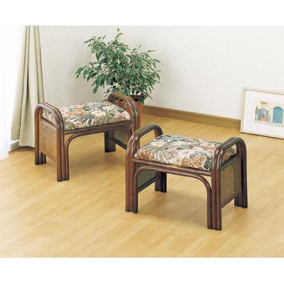 今枝商店 Romantic Rattan 座椅子2個組 ハイ C12