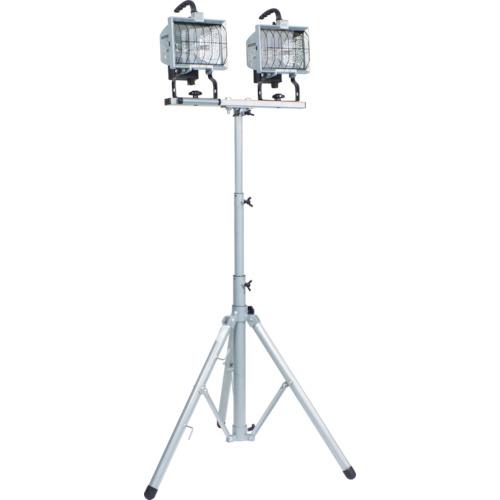 日動工業 日動 ハロゲン投光器 ハロスター500 100V 500Wハロゲン 二灯三脚式 HS-500LW
