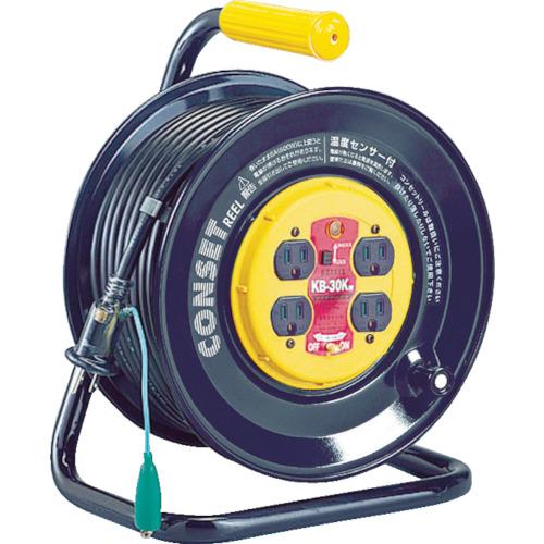 ハタヤリミテッド ハタヤ コンセント盤固定型ブレーカーリール 単相100Vアース付 30m KB-30K