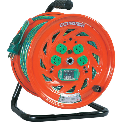 日動工業 日動 特殊機能付電工ドラム アースチェックリール アース漏電しゃ断器付 30m GNF-EB34