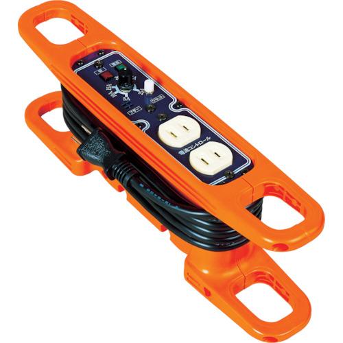 日動工業 日動 ハンドリール 電流コントロールリール 100V 2芯×3m 黒 HRC-032
