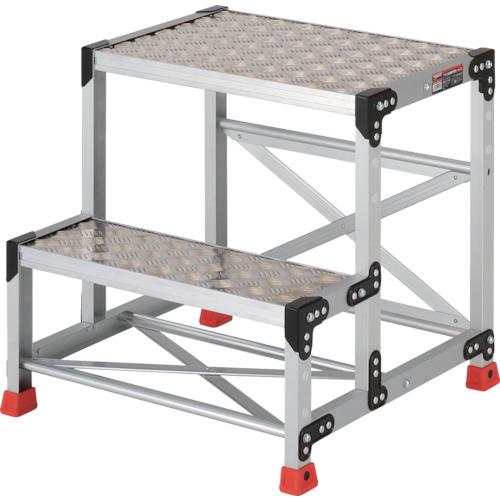 トラスコ中山 TRUSCO 作業用踏台 アルミ製・縞板タイプ 天板寸法600X400XH600 TSFC-266