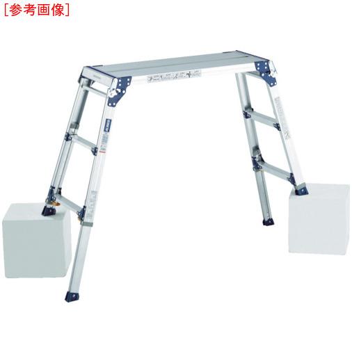 アルインコ アルインコ 足場台 天板高さ0.72~1.02m 最大使用質量100kg PXGE712F